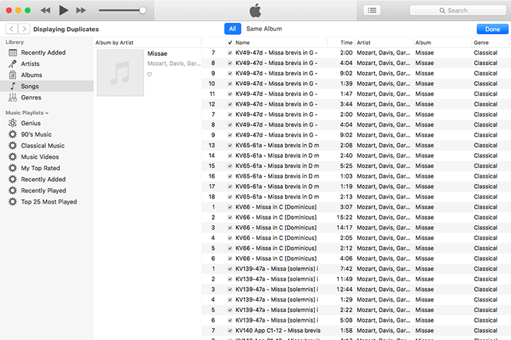 iTunes View